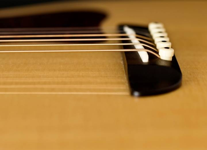 The pitch of the strings is one of the causes of buzz in the guitar