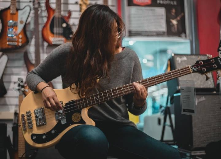 What is a bass guitar